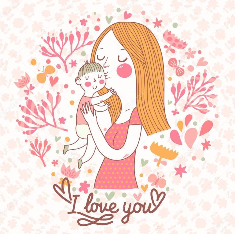 depositphotos 44234899 stock illustration mothers love